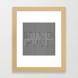 Mind Fuck - Optical Illusion Framed Art Print
