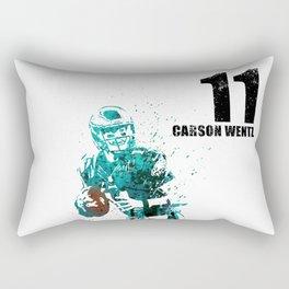 Carson Wentz #American football player Rectangular Pillow