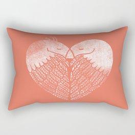 Love birds sitting on a tree Rectangular Pillow