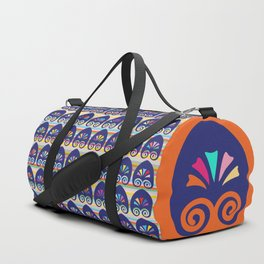 Multicolored fans and stripes pattern Duffle Bag