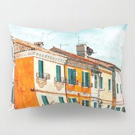 Burano Island #painting #digitalart #travel Pillow Sham