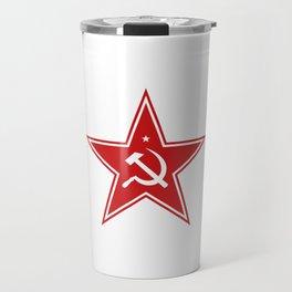 Red Star Hammer & Sickle Communist Travel Mug