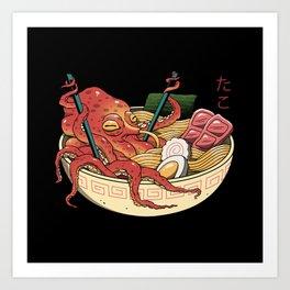Tako Ramen Art Print