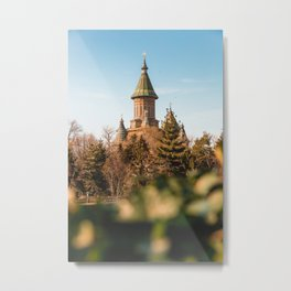 Church above the trees Metal Print