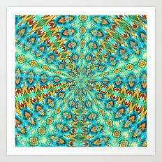 Turquoise Fields Art Print