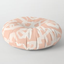 Sweet Life Triangle Dots Peach Coral Pink Floor Pillow