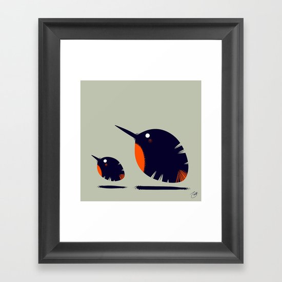 Of a Feather 2 Framed Art Print