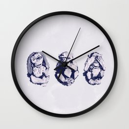 The Monkeys That Don't Speak or See Wall Clock