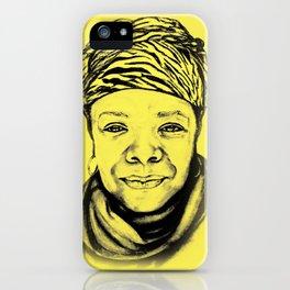 Maya Angelou - (yellow) Sketch to Digital iPhone Case
