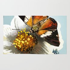 Butterfly on flower 12 Rug
