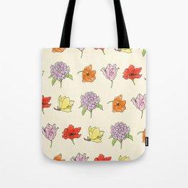 modern floral Tote Bag