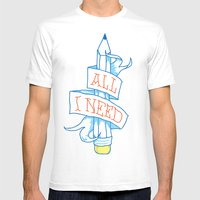 All I need White Mens Fitted Tee MEDIUM