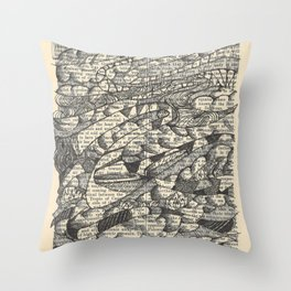 Rolling with the Wind Throw Pillow