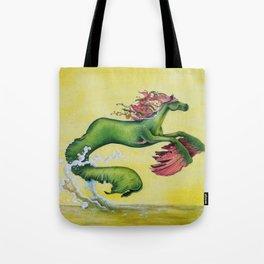 Hippocampus Sea Horse Tote Bag