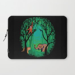 Sumatra Forest Animals - Orangutan, Tiger and Elephant Laptop Sleeve