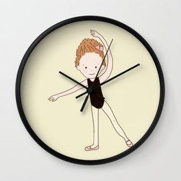 Little Ballerina 2 Wall Clock