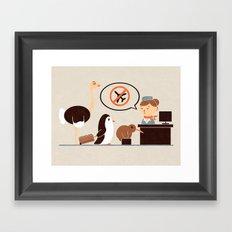 The No-Fly List Framed Art Print
