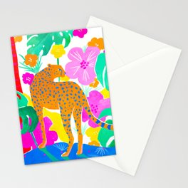 Jaguar in Tropical Garden Stationery Cards