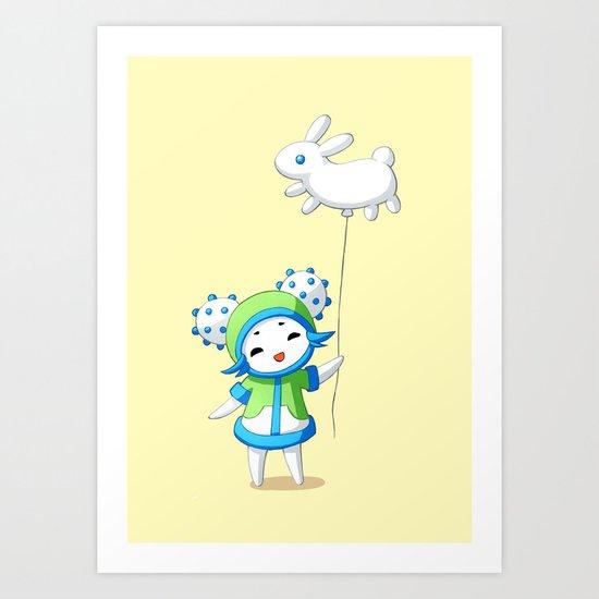 Cactus Girl Art Print