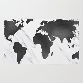 Marble world map black and white art print by mapmaker society6 marble world map black and white rug gumiabroncs Images