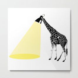Giraffe light Metal Print