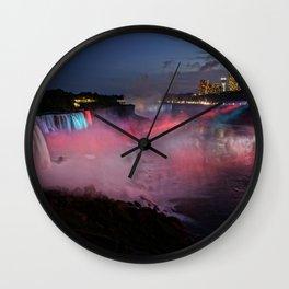 Niagara Falls Illumination Purple Wall Clock