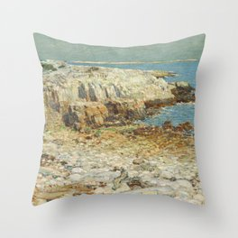 Childe Hassam A North East Headland 1901 Painting Throw Pillow
