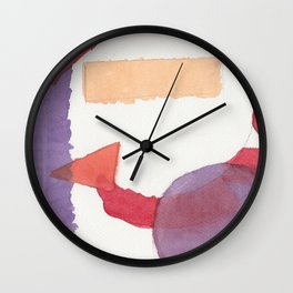 Purple and Red Wall Clock