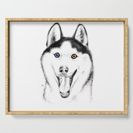 Smiling Husky Serving Tray