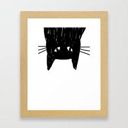 Jess The Black and White Cat Framed Art Print