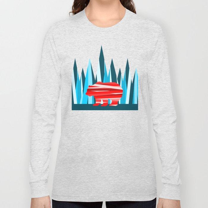 Abstract lines Bear Long Sleeve T-shirt