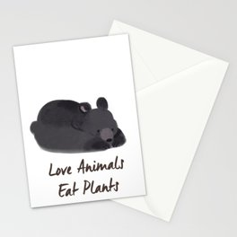 Love Animals, Eat Plants Bear Watercolour Stationery Cards