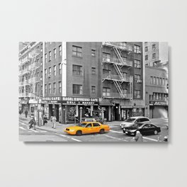 NYC Yellow Cabs Bagel Cafe - USA Metal Print