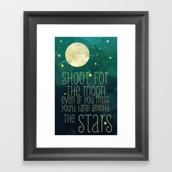 The moon and stars Framed Art Print