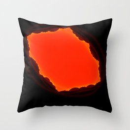 exit from the cave Throw Pillow