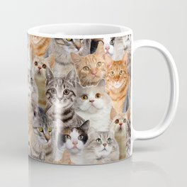 cats pattern lot of funny animals cheesy crazy Coffee Mug