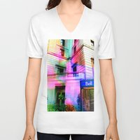 montreal V-neck T-shirts featuring Montreal 8275 by Korok Studios