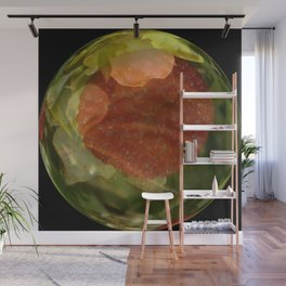 A Layering Of Two Strawberry Globes v.2 Wall Mural