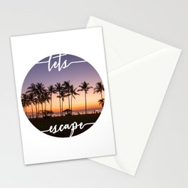 Lets Escape Tropical Print Stationery Cards