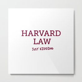 Harvard Law Metal Print