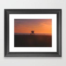 LIFEGUARD TOWER II Framed Art Print