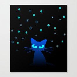 Glow in the Dark Cat Canvas Print