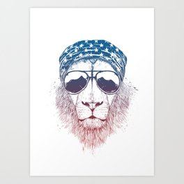Wild lion Art Print
