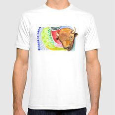 BUFFALO White MEDIUM Mens Fitted Tee