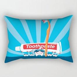 Teeth on Parade Rectangular Pillow