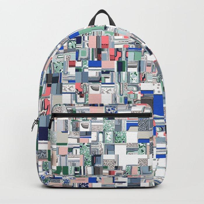 Geometric Grid of Colors Backpack