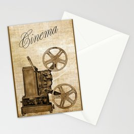 Old Cinema Reels Stationery Cards