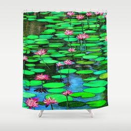Homage to Ponds, Lilies and Lily Pads Shower Curtain