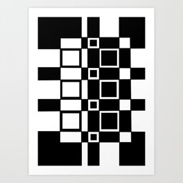 Chic Checkerboard Art Print
