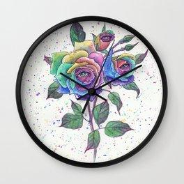 Magic roses Wall Clock